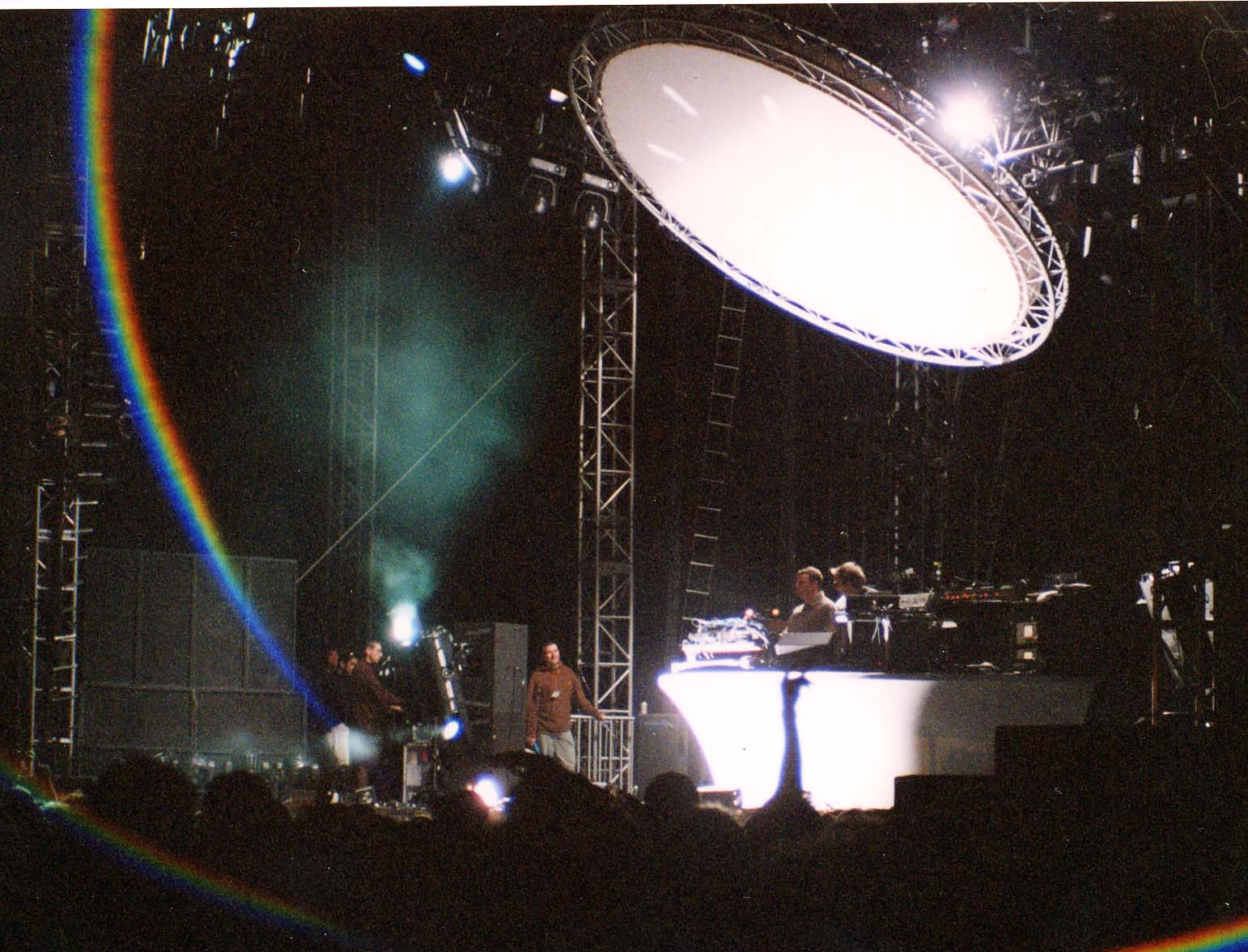 The Chemical Brothers work the crowd at Coachella 2002